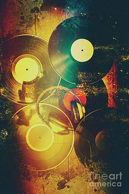 Soundtrack Photograph - In Shapes And Colours Of Disco by Jorgo Photography - Wall Art Gallery