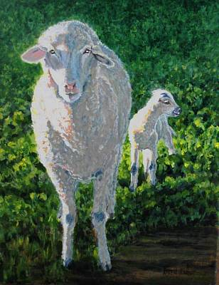 Print featuring the painting In Sheep's Clothing by Karen Ilari