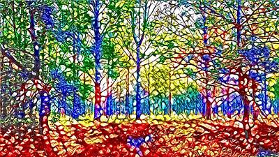 Digital Art - In Spite Off The Trees by Laurie Williams
