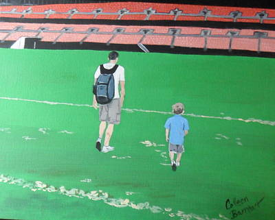 Cleveland Stadium Painting - In Step by Colleen Barnhart