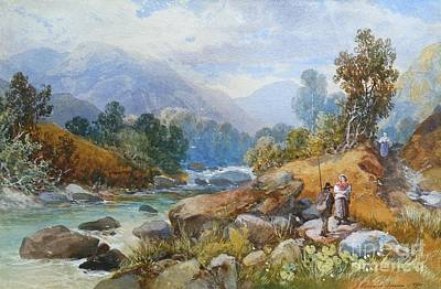 North Wales Painting - In The Aber Valley by MotionAge Designs