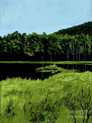 Painting - In The Adirondacks by Robert Coppen