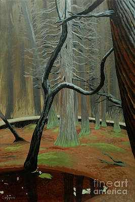 Painting - In The Atlantic White Cedar Swamp by Robert Coppen