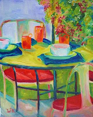 In The Backyard Art Print by Irit Bourla