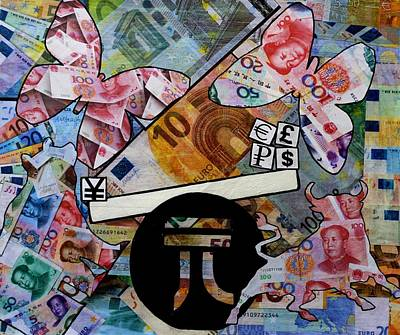 Finance Mixed Media - In The Balance by John  Nolan
