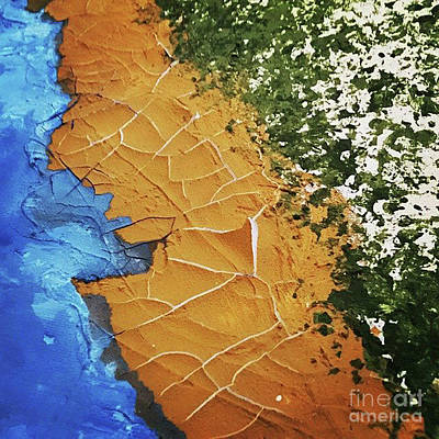 Abstract Handbag Painting - In The Beginning by Jilian Cramb - AMothersFineArt