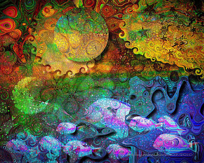 Subconscious Digital Art - In The Beginning by Mimulux patricia no No