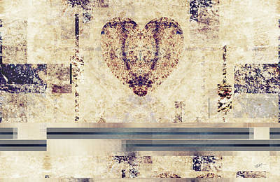 Digital Art - In The Beginning - There Was Love by rd Erickson