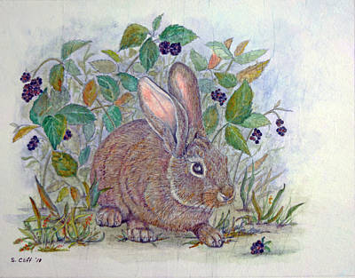 Mixed Media - In The Berry Patch by Sandy Clift