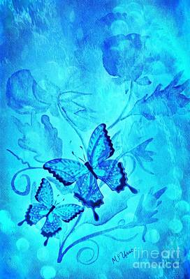 Digital Art - In The Blue by Maria Urso