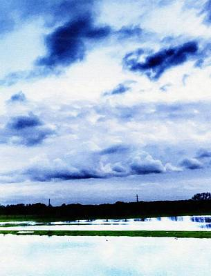 Mixed Media - In The Blue by Abbie Shores