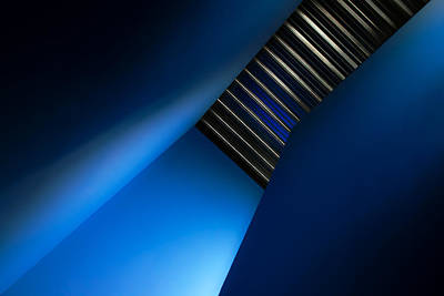 Staircase Photograph - In The Blues by Gilbert Claes