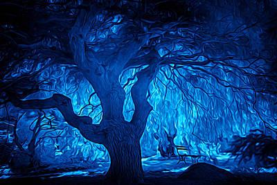 Digital Art - In The Blues by Lilia D