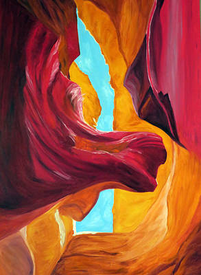Painting - In The Canyon by Vivian Stearns-Kohler