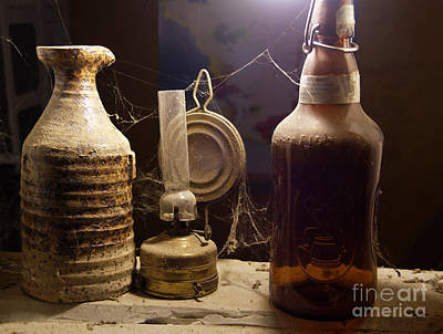 Oil Lamp Photograph - In The Cellar by E Petersen