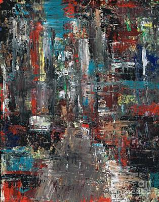 Abstact Painting - In The City by Frances Marino