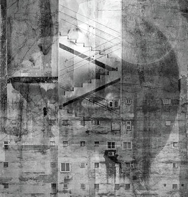 Surrealism Mixed Media - In The City by Jacky Gerritsen