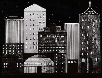 Drawing - In The City by Kathy Sheeran