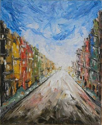 Abstact Landscapes Painting - In The City by Maria Woithofer