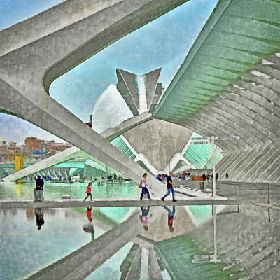Digital Art - In The City Of Arts And Sciences by Digital Photographic Arts