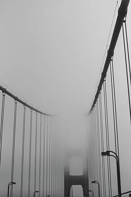 Photograph - In The Clouds- A Thick Layer Of Fog Over The Golden Gate Bridge San Francisco Ca by Toby McGuire