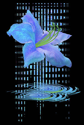 Photograph - In The Cool Of The Night 1 -  Blue Azalea by Gill Billington