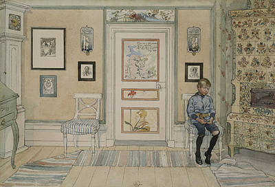 A Home Painting - In The Corner. From A Home by Carl Larsson