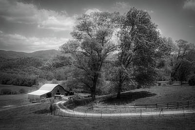 Photograph - In The Country In Black And White by Debra and Dave Vanderlaan