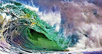 San Diego Digital Art - In The Curl by Russ Harris