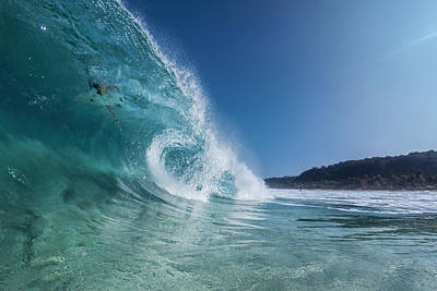 Photograph - In The Curl by Sean Davey