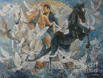 Etc. Painting - In The Cycle Of Nature Feelings by Irina Sushelnitskaya