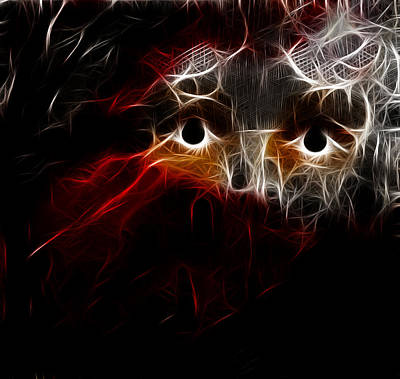 Young Man Digital Art - In The Dark by Patricia Motley