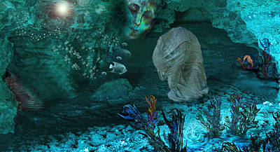 Meditative Digital Art - In The Deep by Patricia Motley