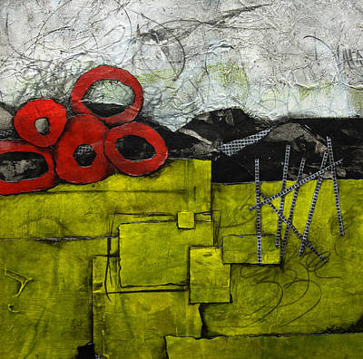 Lime Green Mixed Media - In The Depth Of Life by Laura Lein-Svencner