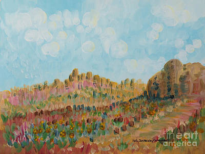 Painting - As We Passed By In The Desert by Holly Carmichael