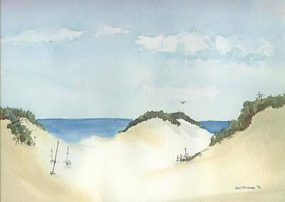 In The Dunes Art Print