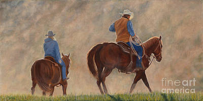 Danielle Smith Painting - In The Dust by Danielle Smith