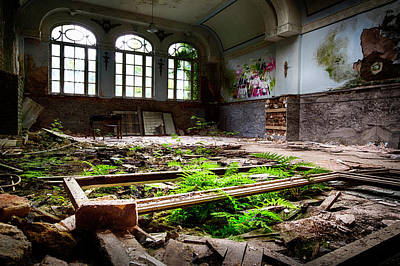 In The End Nature Always Wins - Urbex Abandoned Building Art Print