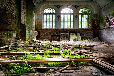 In The End Nature Always Wins - Urbex Abandoned Hotel Art Print by Dirk Ercken