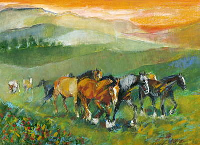 Art Print featuring the painting In The Field by Mary Armstrong