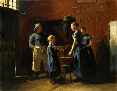 Painting - In The Fisherman House 1886 by Corinth Lovis
