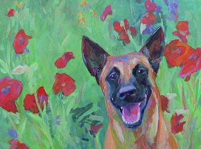 In The Flowers Original by Sandy Lindblad
