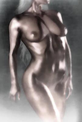 Female Body Digital Art - In The Fog by Naman Imagery