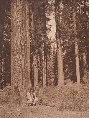In The Forest - Klamath C.1923 , Native American By Edward Sheriff Curtis, 1868 - 1952 Art Print