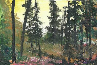 Painting - In the forest by Yossi Sigura
