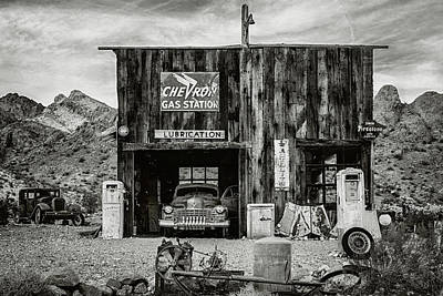Black And White Photograph - In The Garage by Aron Kearney