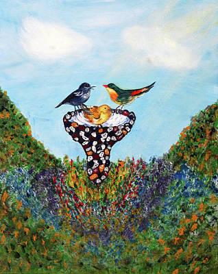 In The Garden Art Print by Ann Ingham