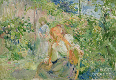 Pears Painting - In The Garden At Roche Plate by Berthe Morisot