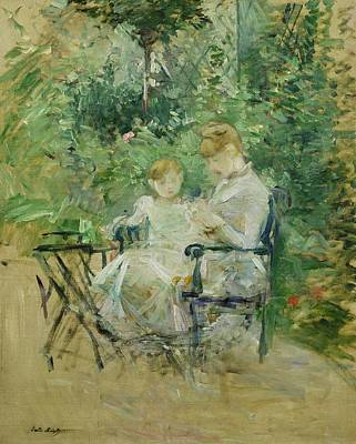 Le Jardin Wall Art - Painting - In The Garden by Berthe Morisot