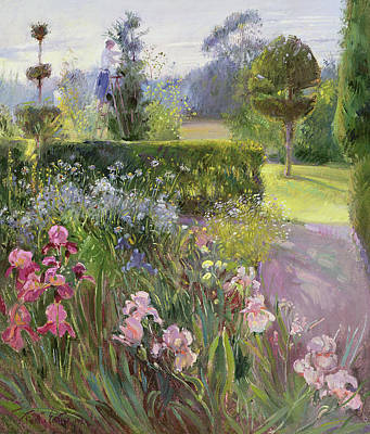 Ground Painting - In The Garden   June by Timothy Easton
